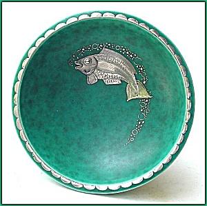 Gustavsberg Argenta footed bowl (fish design) (Image1)