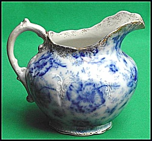 Flow Blue: PANSY water pitcher (Image1)
