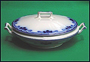 Flow Blue: IDRIS (THE OLYMPIC) round covered vegetable bowl (Image1)