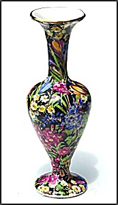 Royal Winton �Black Crocus� chintz vase (Image1)
