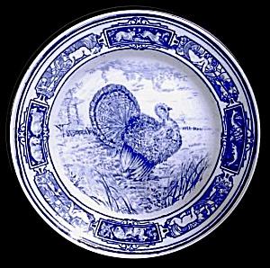 Flow Blue: TURKEY plate (Wedgwood) (Image1)