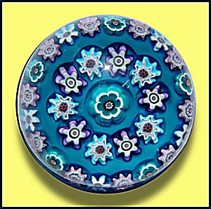 Julie Scrutton Lewis 1998: Concentric millefiori paperweight (Image1)
