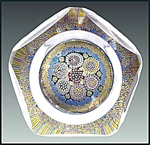 Whitefriars 1974: Patterned  millefiori paperweight (Image1)