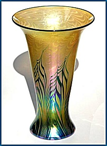 "Lundberg Studios ""Tropical Fern"" vase (Image1)"