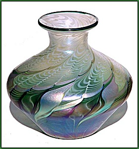 "Lundberg Studios ""Natalia Verde""vase (Image1)"