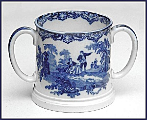 Flow Blue: WATTEAU loving cup (Image1)