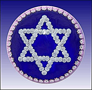 Peter McDougall: Millefiori Star of David paperweight (Image1)