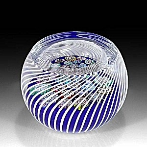 Peter McDougall: Millefiori in swirling basket paperweight (Image1)