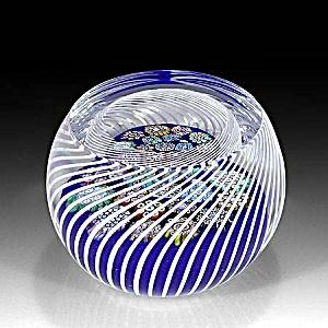 Peter McDougall: Millefiori in swirling basket paperweight (Image1)