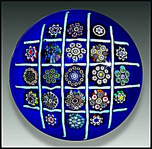 Peter McDougall: Chequerboard millefiori paperweight (Image1)