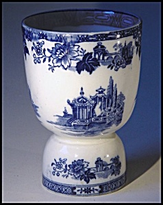 Flow Blue: MADRAS double eggcup (Image1)