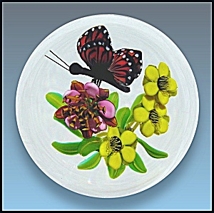 Ken Rosenfeld 2006: Butterfly and floral paperweight (Image1)