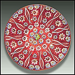 John Deacons concentric millefiori paperweight (Image1)