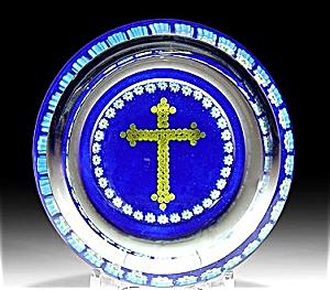 Peter McDougall: Millefiori cross pin dish (Image1)