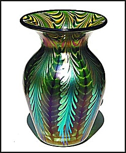 "Lundberg Studios ""Sea Crest"" vase (Image1)"