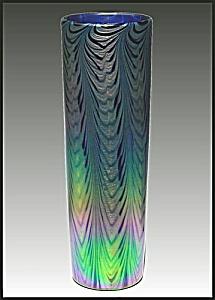 """Lundberg Studios """"Rainbow Splash"""" vase (Image1)"""
