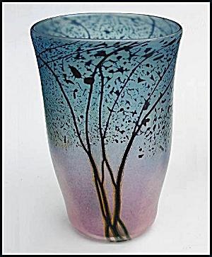 "Peet Robison: ""Sunset Landscape"" ovoid vase (Image1)"