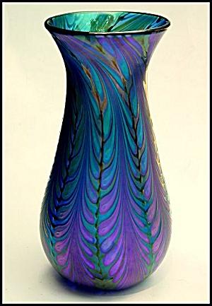 Lundberg Studios �Velvet Splash� vase (Image1)