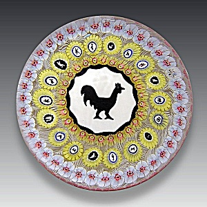 Baccarat 1971: Gridel rooster paperweight (Image1)