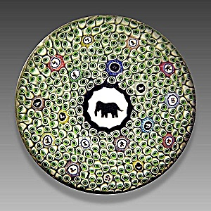 Baccarat 1973: Gridel elephant paperweight (Image1)