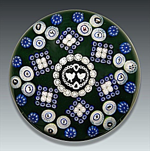 Baccarat 1976: Gridel lovebirds paperweight (Image1)