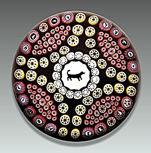 Baccarat 1978: Gridel dog paperweight (Image1)