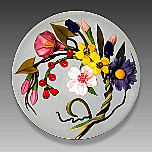 Chris Buzzini 1992: Floral wreath paperweight (Image1)