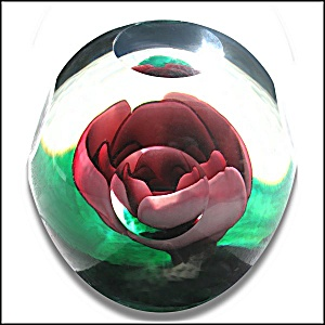 Joe St. Clair crimped rose paperweight (Image1)