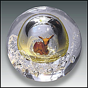 Joe Zimmerman: Deer sulphide paperweight (Image1)