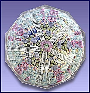 Whitefriars 1975: Multi-faceted Millefiori Paperweight