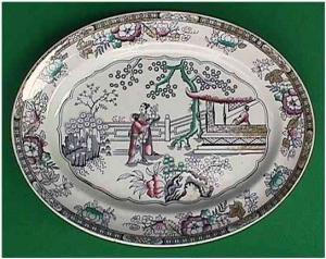 Early Staffordshire polychrome large platter (Image1)