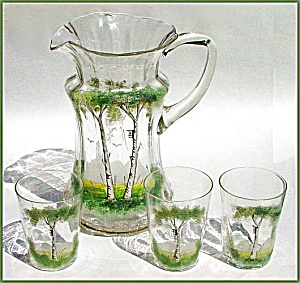 Hand-painted pitcher set (Image1)