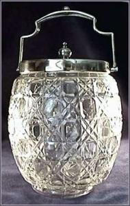 Glass Biscuit Jar with Silver Lid (Image1)