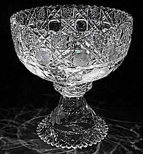 Cut Glass Punch bowl and stand (Image1)