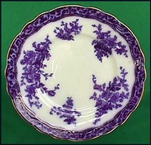 Flow Blue: TOURAINE plate (Image1)