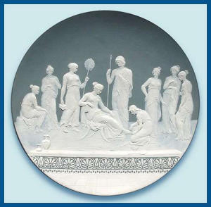 Mettlach: Large cameo plaque (signed) (Image1)