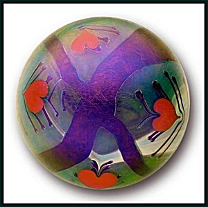 Early Lundberg 1973: Art nouveau paperweight (Image1)