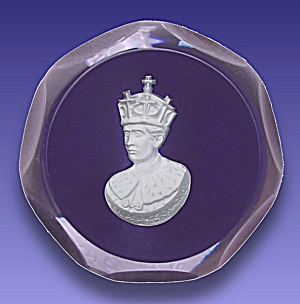 D'albret 1970: Prince Charles Sulphide Paperweight
