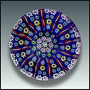 Perthshire: Patterned millefiori and twist cane paperweight (Image1)
