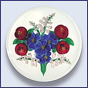 Randall Grubb 1990: Floral Bouquet Paperweight