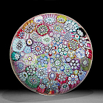 Peter McDougall:  Close packed millefiori paperweight