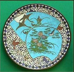 Click here to enlarge image and see more about item B123: Antique Japanese Cloisonn� charger