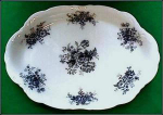 Click here to enlarge image and see more about item C124: Flow Blue: DENSTONE platter (Meaken)
