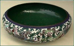 Click here to enlarge image and see more about item C158: Antique Cloisonn� bowl (signed)