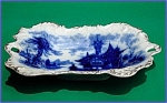 Click to view larger image of Flow Blue: SHANGHAI baroque platter (Image1)