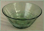 Steuben Spanish Green  reeded bowl