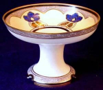Click here to enlarge image and see more about item D143: Nippon Compote: Art Deco Stylized Flowers