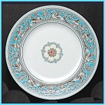 Click here to enlarge image and see more about item ES01: Wedgwood Florentine Turquoise dinner plate
