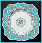 Click here to enlarge image and see more about item ES02: Wedgwood Florentine sq. salad/dessert plate