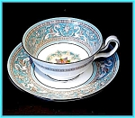 Click here to enlarge image and see more about item ES03: Wedgwood Florentine cup & saucer
